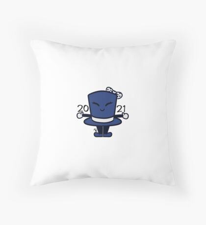 Tippy the Top Hat '21 Throw Pillow