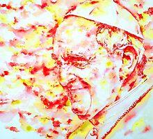 POPE FRANCIS - watercolor portrait.2 by lautir