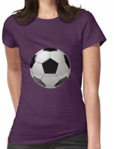 foot ball Womens Fitted T-Shirt