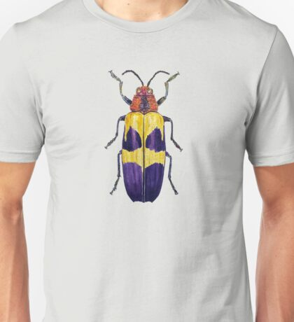 Chrysochroa buqueti Beetle watercolor on transparent ground Unisex T-Shirt