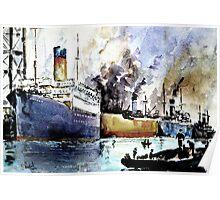 Ships in Dock Poster