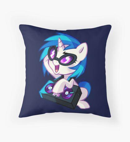 Vinyl Scratch Throw Pillow