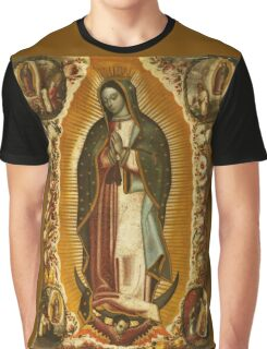 Our Lady of Guadalupe, Virgin Mary, Blessed Mother Graphic T-Shirt