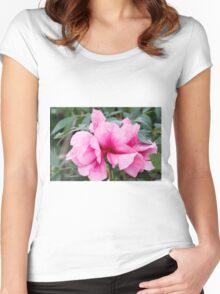 peony in spring Women's Fitted Scoop T-Shirt