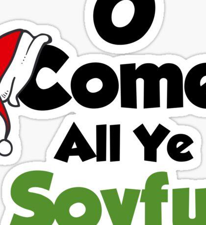 Funny Christmas Design for Vegans & Vegetarians Sticker