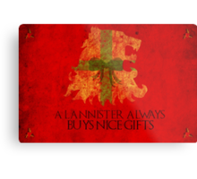 Thrones Christmas: Lannisters Spend More Metal Print