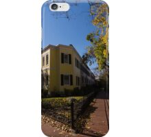 Washington, DC Facades – Sharp Autumn Shadows in Foggy Bottom Neighborhood iPhone Case/Skin
