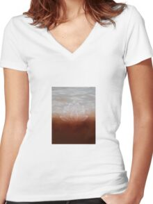'Duende' original oil on canvas Women's Fitted V-Neck T-Shirt