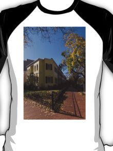 Washington, DC Facades – Sharp Autumn Shadows in Foggy Bottom Neighborhood T-Shirt