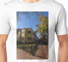 Washington, DC Facades – Sharp Autumn Shadows in Foggy Bottom Neighborhood Unisex T-Shirt