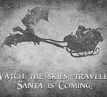 Skyrim Christmas Card: Watch the Skies Traveler by Alice Edwards