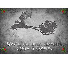 Skyrim Christmas Card: Watch the Skies Traveler Photographic Print