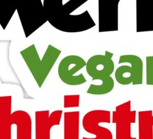 Merry Vegan Christmas Sticker