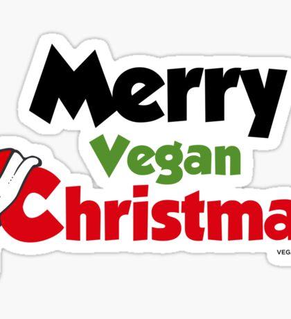 Merry Vegan Christmas Sticker