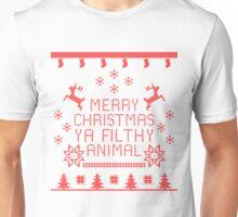 MERRY CHRISTMAS YA FILTHY ANIMAL [Red Version] Unisex T-Shirt