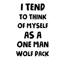 One man wolf pack Photographic Print