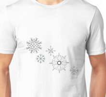Black Snowflakes  Unisex T-Shirt