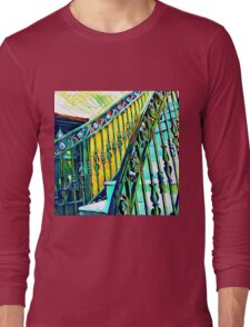 New Orleans Vintage Iron Spindles Staircase  Long Sleeve T-Shirt