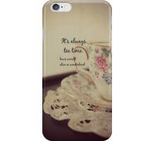 Tea Time Alice Wonderland iPhone Case/Skin