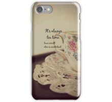 Tea Time Alice Wonderland iPhone Case/Skin
