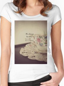 Tea Time Alice Wonderland Women's Fitted Scoop T-Shirt