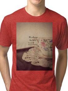 Tea Time Alice Wonderland Tri-blend T-Shirt