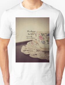 Tea Time Alice Wonderland Unisex T-Shirt