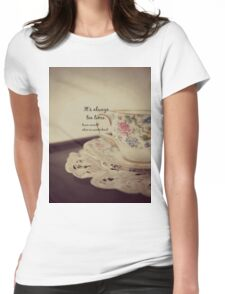 Tea Time Alice Wonderland Womens Fitted T-Shirt