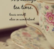 Tea Time Alice Wonderland Sticker