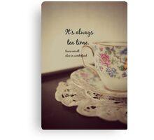 Tea Time Alice Wonderland Canvas Print