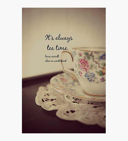 Tea Time Alice Wonderland Photographic Print