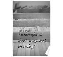 Jane Austen Reading Poster