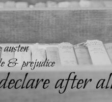 Jane Austen Reading Sticker