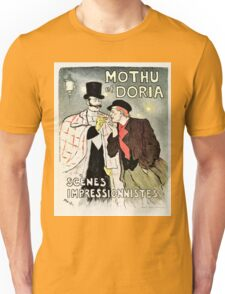 Vintage French impressionism singers ad Mothu and Doria Unisex T-Shirt