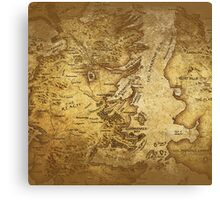 Distressed Maps: Game of Thrones Westeros & Essos Canvas Print