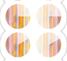 Watercolor handdrawn infographic circle and round Sticker