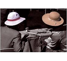Chatting Hats Photographic Print