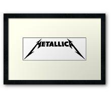 Metallica Logo Black Framed Print