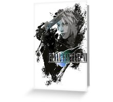 Final Fantasy 7 Cloud Strife Greeting Card
