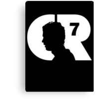 CR7 logo white Canvas Print