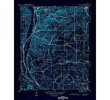 USGS TOPO Map Arkansas AR Bethesda 259938 1942 31680 Inverted Photographic Print