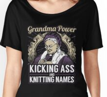 Grandma Super Power Knitting Names Women's Relaxed Fit T-Shirt