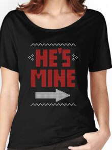 He's Mine She's Mine Matching Couple T-Shirts Women's Relaxed Fit T-Shirt