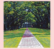 Oak Alley Plantation Louisiana One Piece - Long Sleeve