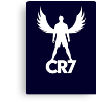 CR7 angel white Canvas Print