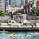 Chicago IL - Kayaking on the Chicago River by Susan Savad