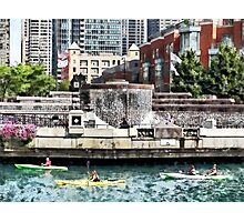 Chicago IL - Kayaking on the Chicago River Photographic Print
