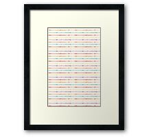 Colored lines pattern Framed Print