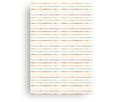Colored lines pattern Canvas Print