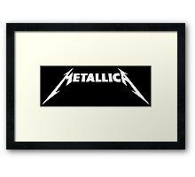Metallica Logo White Framed Print